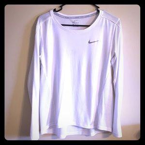 Nike Dri-Fit mesh running long sleeve